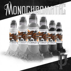 "World Famous Tattoo Ink ""Poch's Monochromatic Set"" (30мл - 6шт)"