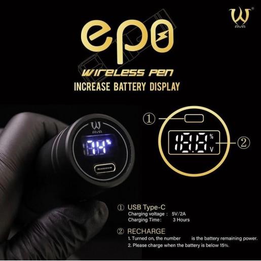 AТату машинка Ava EP8 Wireless pen