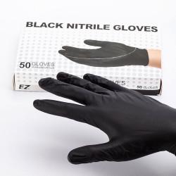 Перчатки EZ Нитрил черные M (25 пар)